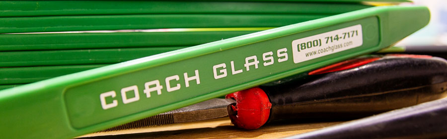 Coach Glass logo on tool for removing windshields and side glass