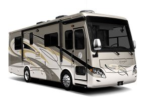 door-side view of Allegro Breeze RV