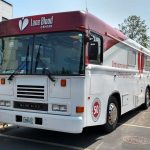 Lane Blood center bloodmobile with two-piece windshield